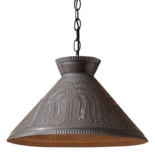 Irvin's Roosevelt Shade Light With Willow Tree Design Finished In Kettle Black