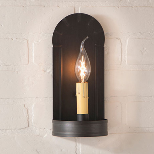 Irvin's Fireplace Sconce Finished In Kettle Black