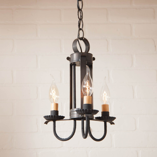 Irvin's Tinware Amherst Hanging Light - Small, Finished In Kettle Black
