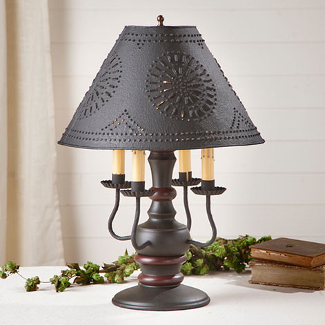 Irvin S Tinware Cedar Creek Table Lamp Primitive Lamps