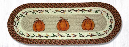 Braided Table Runners Harvest Pumpkin Table Runner