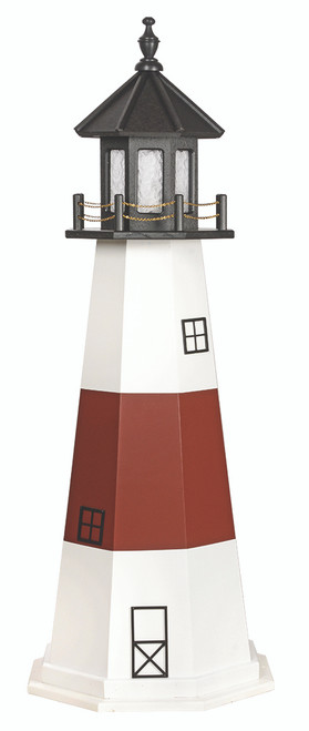 Amish Made Poly Outdoor Lighthouse Montaukmodel