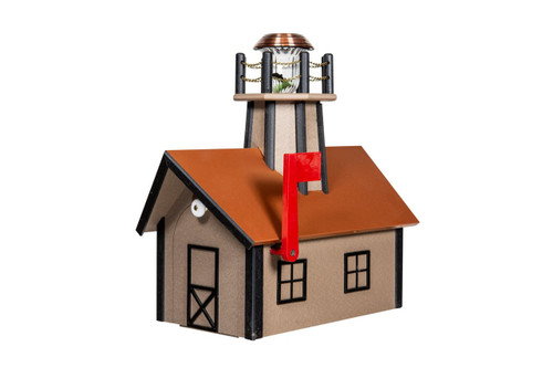 Amish Handcrafted Wood Lighthouse Mailboxes Made In Usa