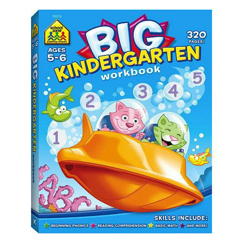 Big Kindergarten Workbook for Ages 5-6
