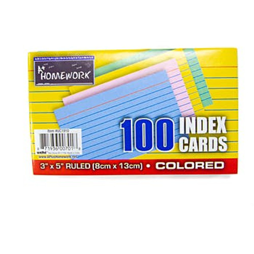 Index Cards (Assorted Colors)