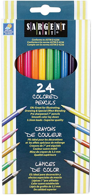 Sargent Art coloured pencils 24 pk