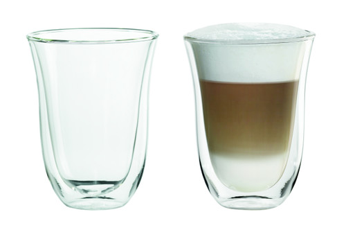 Delonghi Double Wall Latte Glasses Set