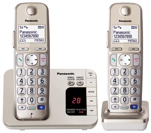 Panasonic Large Button Cordless Phone Twin Pack