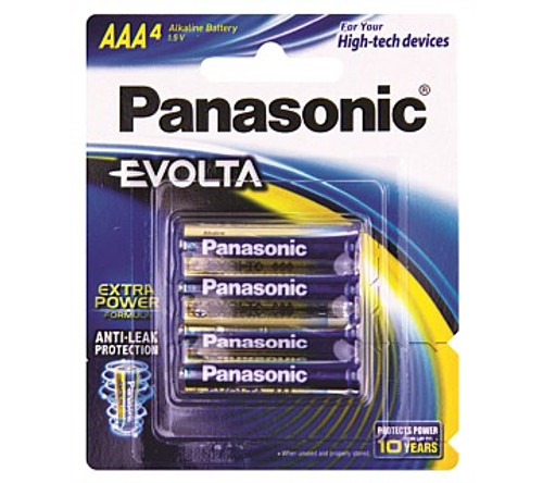 Panasonic LR063EG4B Evolta AAA Batteries 4 Pack