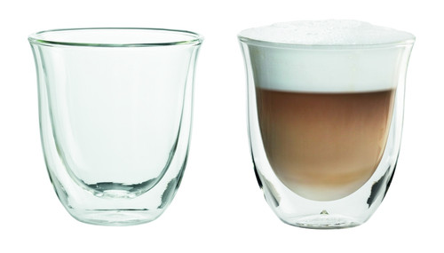 Delonghi Double Wall Cappuccino Glasses Set