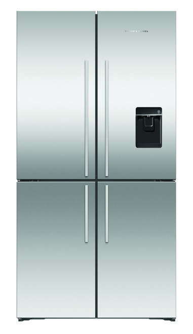 Fisher & Paykel 605L Quad Door Ice & Water Refrigerator