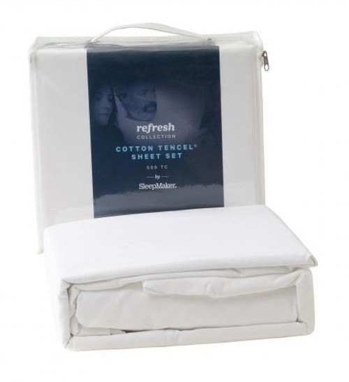 SleepMaker Refresh Cotton Sheet Set Double