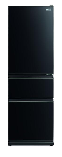 Mitsubishi Electric 370L Glass CX Two Drawer Refrigerator MRCGX370EPGBKA