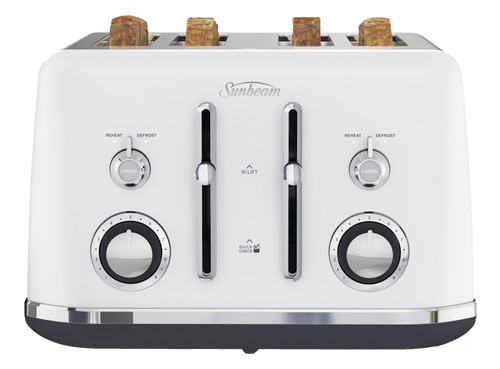 Sunbeam Alinea 4 Slice Toaster - White