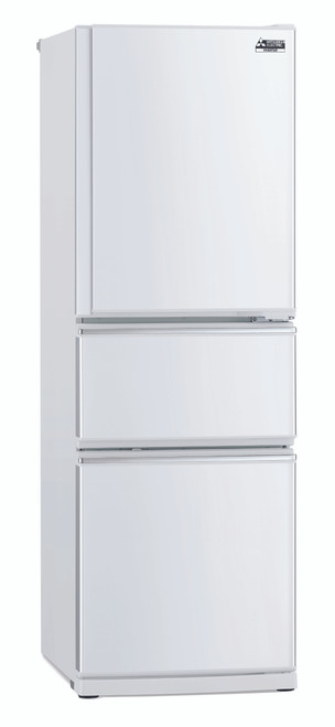 Mitsubishi 306L Connisseur Two Drawer White Refrigerator