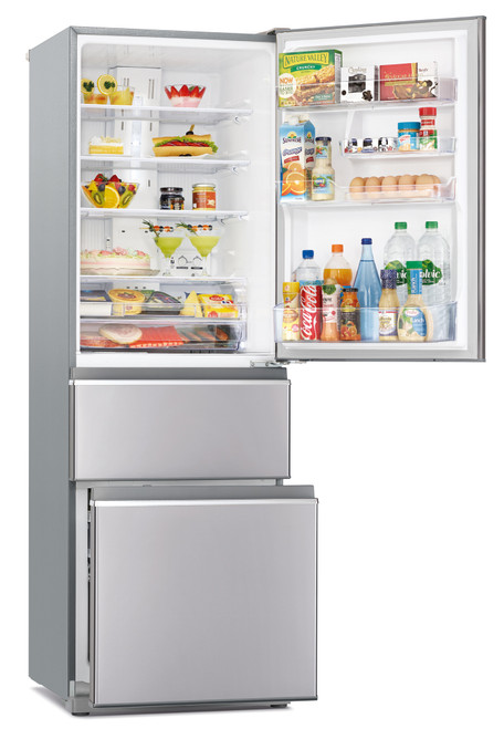 Mitsubishi 402 Litre Connoisseur Two Drawer LHH Refrigerator