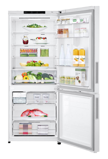 LG 454L Bottom Mount Refrigerator - White