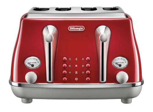 Delonghi Icona Capital 4 Slice Toaster - Red