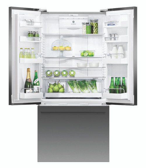 Fisher & Paykel ActiveSmart™ 519L French Door Refrigerator with Black Stainless Finish and Ice and Water - please ring for stock availability