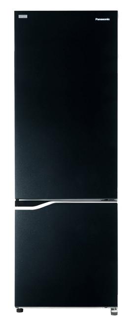 Panasonic 358L Black Glass Bottom Mount Refrigerator
