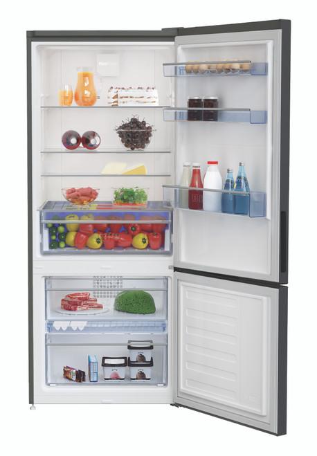 Beko 450L Black Bottom Mount Refrigerator