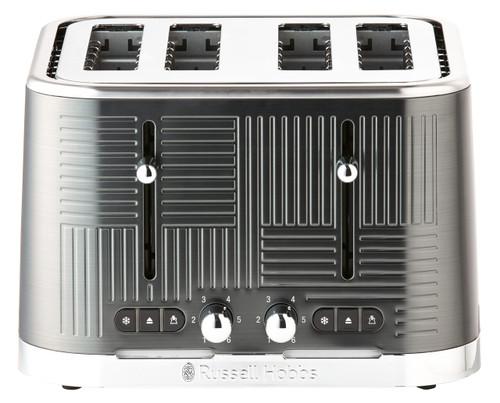 Russell Hobbs Geo Steel 4 Slice Toaster