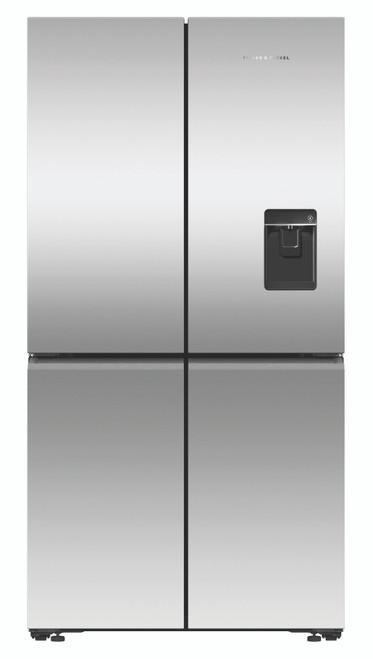 Fisher & Paykel 605L Quad Door Ice & Water Refrigerator - RF605QNUVX1