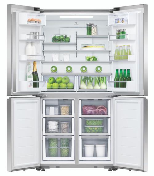 Fisher & Paykel 605L Quad Door Ice & Water Refrigerator - RF605QNUVX1