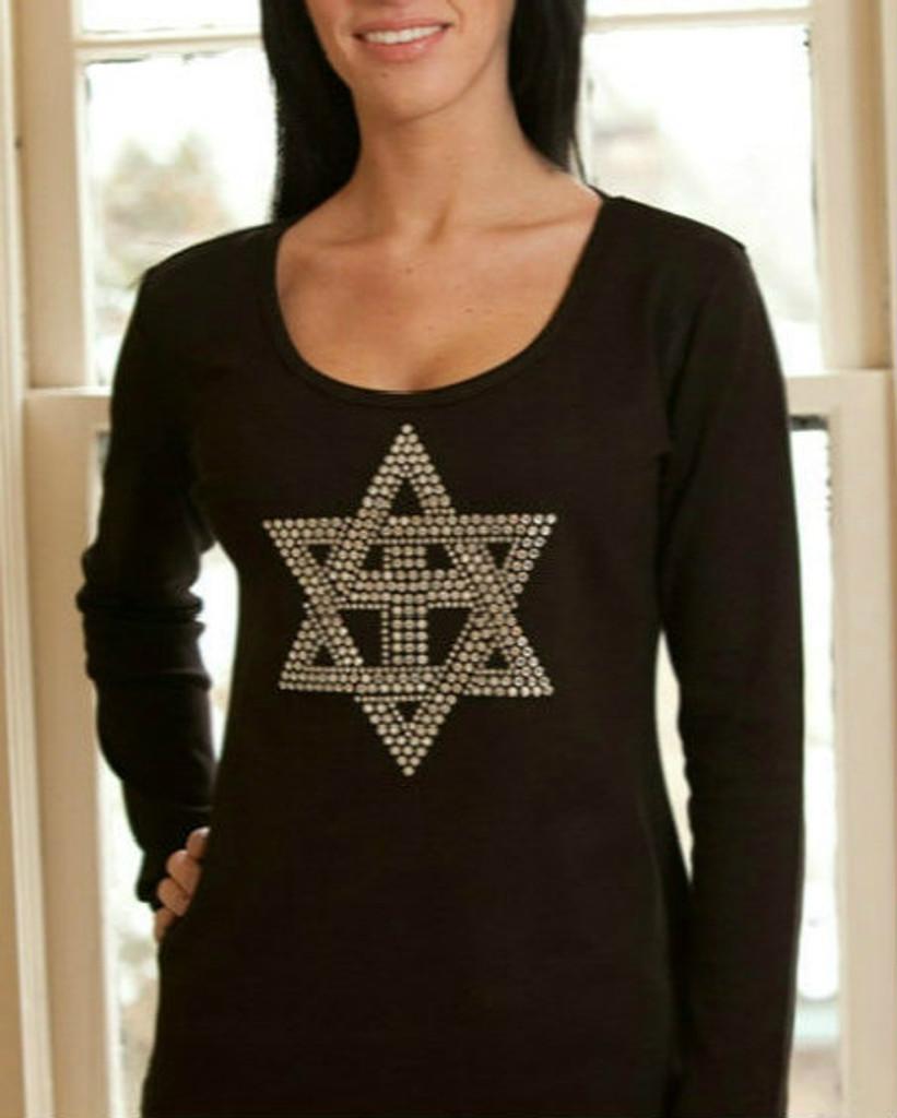 A Heart for Israel Premium Rhinestone