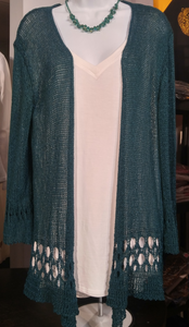 Day to Evening Fancy Open Weave Detailing Cardigan