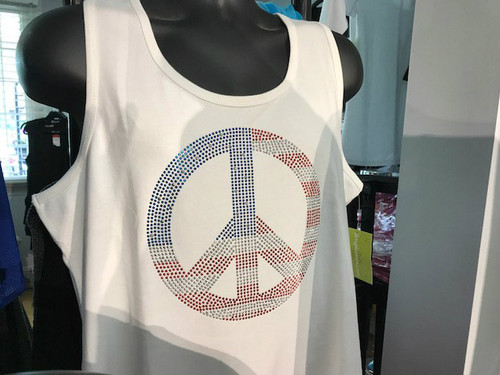 Red White and Blue Peace