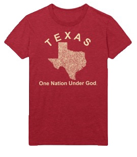 Texas One Nation Under God T-shirt Red