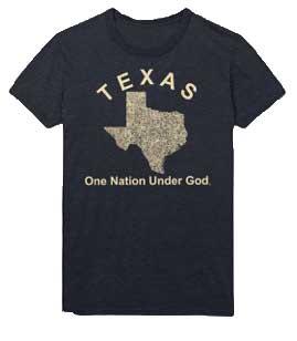 Texas One Nation Under God T-shirt Black