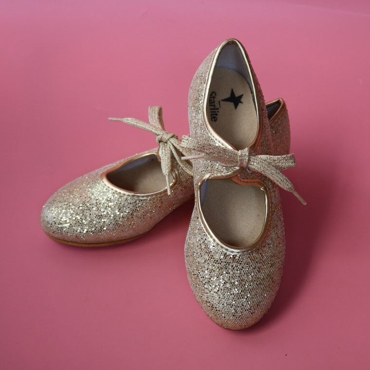 Starlite Gold Glitter Tap Shoes