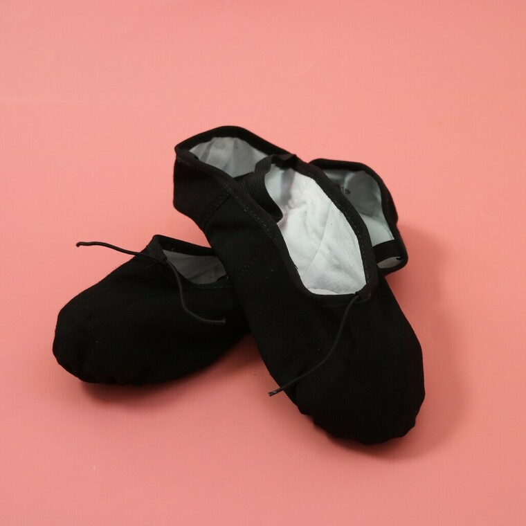 So Danca Black Split Sole Canvas Ballet Shoes BAE13