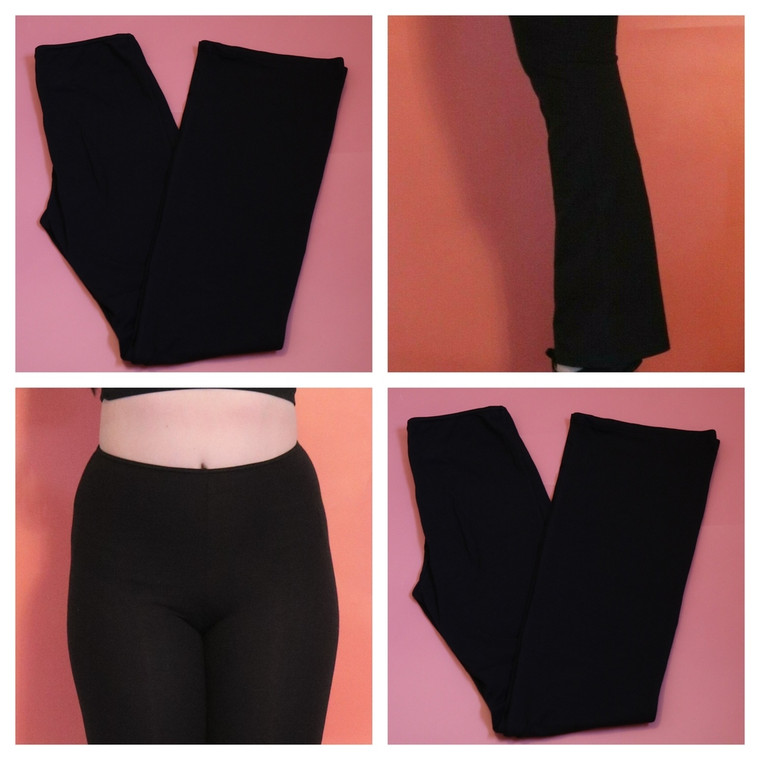 Arabesque Adults Black Jazz Pants Long Length