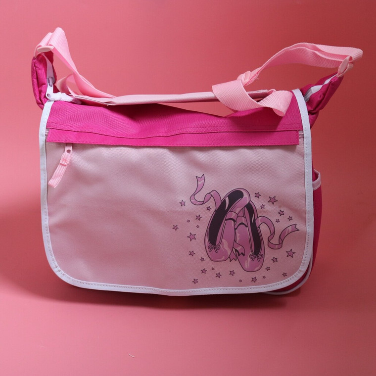 Dance Bag Pink Ballet Shoe Design Despatch Bag