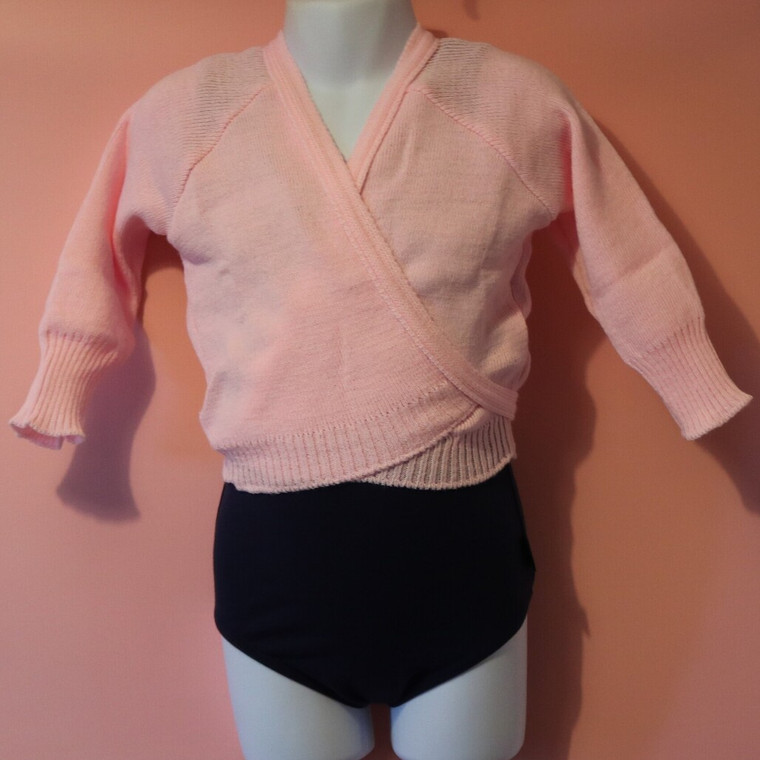 Danse Dezines Pink Knitted Crossover Cardigan