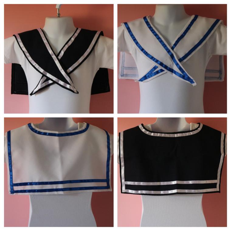 Danse Dezines Sailor Collar In Blue Or White