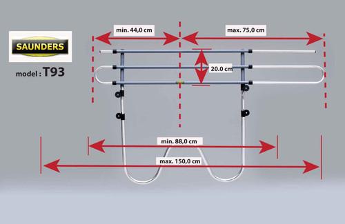Saunders T93 Dog Guard For Citroen C3 3 Door 2002 - 2010