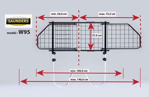 Saunders W95 Dog Guard For Nissan Note 2006 onwards
