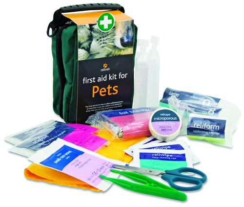 Relivet pet first aid kit contents