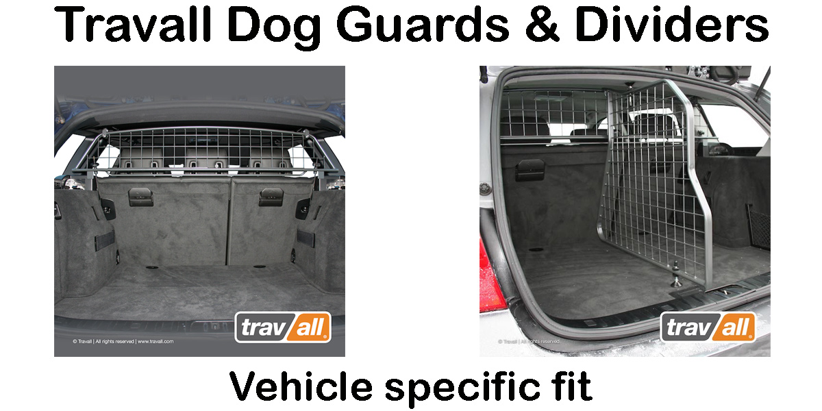 Travall dog guard and divider for vehicle specific fit
