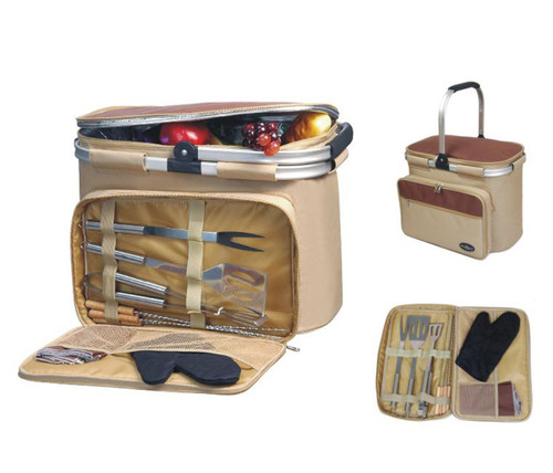 Aluminum Framed Cooler with BBQ Tools