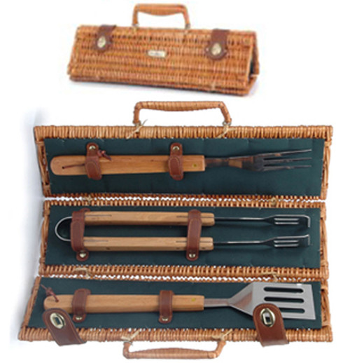 The Skewer Collection Carrier with BBQ Tools