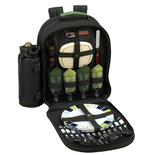 Picnic at Ascot - Picnic Backpack for 4 w/ Blanket