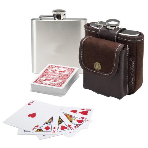 Picnic at Ascot - Barware-Hip Flask & Playing Cards