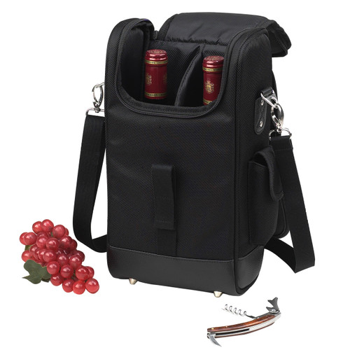 Picnic at Ascot - Two Bottle Satchel with Wine Opener
