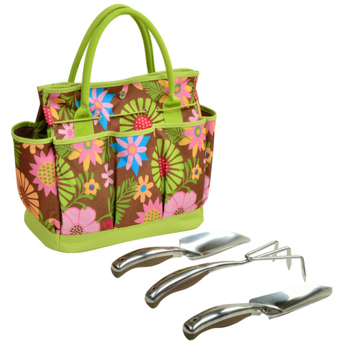 Picnic at Ascot - Floral Gardening Tote with Tools