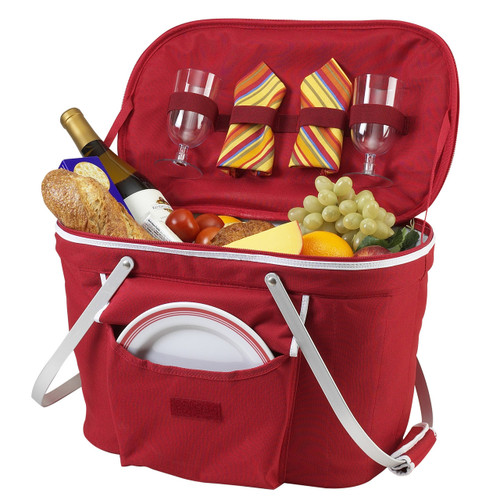 Picnic at Ascot - Collapsible Insulated Picnic Basket for 2